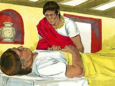 Free Bible images: Jesus heals the servant of a Centurion. (Matthew 8 ...
