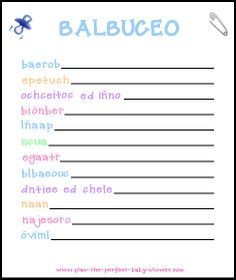 baby actividades para baby shower ideas baby showers shower baby baby