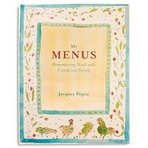 Enter to win 1 of 2 copies of My Menus and 2 Jacques Pepin Watercolor Aprons. Old Recipes, Cooking Recipes, Eat Your Books, Jacque Pepin, Sounds Good, This Book, Menu, Favorite Recipes, Cook Books