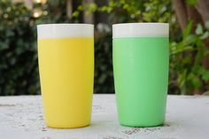 """Vintage 60s """"Bolero"""" Therm-O-Ware Plastic Tumblers/Coffee Mugs/RV/Picnic/Camping/Retro/Mid Century by SycamoreVintage on Etsy"""