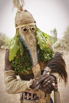 Africa | Masked dancer, Ethiolo village, Bassari country, Senegal | © Jorge Fernández