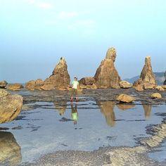 Hashigui Rockes, Kushimoto, Wakayama. Japan 橋杭岩 / 和歌山県 東牟婁郡 串本町