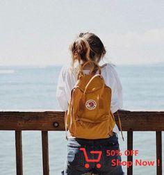 Visit Stockholm with a Swedish icon, the Kånken backpack from Fjallraven. Mochila Kanken, Kanken Backpack, Travel Backpack, Backpack Outfit, Instagram Pose, Instagram Beach, Instagram Fashion, Insta Photo Ideas, Instagram Picture Ideas