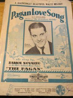PAGAN LOVE SONG LYRICS ARTHUR FREED 1929 Metro Goldwyn Mayer, Love Songs Lyrics, Music Books, Ukulele, Pagan, Singing, Ebay, Musik
