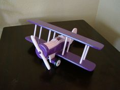 Shop for on Etsy, the place to express your creativity through the buying and selling of handmade and vintage goods. Wooden Airplane, Woodworking Ideas, Wooden Toys, Toddler Bed, Handmade Gifts, Etsy, Furniture, Vintage, Home Decor
