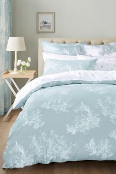 Super soft bed sheets in single & double styles featuring latest prints and colourways. Duck Egg Blue Bedding, Duck Egg And Grey Bedroom, Duck Egg Blue Bathroom, Pale Blue Bedrooms, Glam Master Bedroom, Blue Bedroom Decor, Bedroom Turquoise, Bedroom Colors, Bedroom Sets