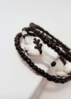 Check out this item in my Etsy shop https://www.etsy.com/listing/488751978/black-white-bracelet-black-white-beaded