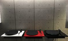 Rega planar turntables 1,2,and 3  In red white and black All on demo at sound academy  Bloxwich