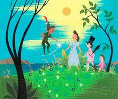 Peter Pan art by Mary Blair. #DisneyAnimated