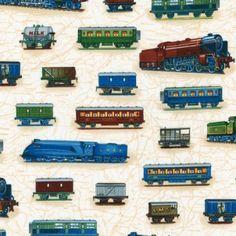 Robert Kaufman - All Aboard Trains Vintage