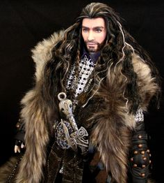 The hobbit ooak thorin dwarf repaint custom ken doll lord of the rings Thorin Oakenshield, Beautiful Barbie Dolls, Ken Doll, Ooak Dolls, Reborn Dolls, Doll Repaint, Barbie Collection, Barbie Friends, Barbie World