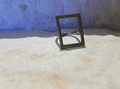 Check out this item in my Etsy shop https://www.etsy.com/listing/538343846/square-ring-minimal
