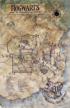 Hogwarts Karte   - ♡HP♡ - #Hogwarts #Karte