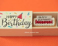 Happy birthday matchbox,birthday card,Miniatures matchbox card,Valentine's Gift,Funny Love Card,Gift for her/him,Girlfriend gift