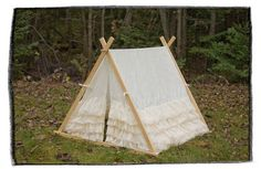 NEW PRICE  Kids Lace Ruffle Teepee Play tent by TeepeeandTent, $179.99