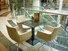 Schadow Arkaden Shopping Mall In Düsseldorf #ShoppingMall #ContractFurniutre #BdsContract Hospitality, Mall, Dining Chairs, Furniture, Projects, Home Decor, Homemade Home Decor, Home Furnishings, Dining Chair