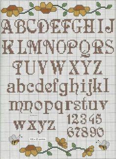 New embroidery monogram letters cross stitch Ideas Cross Stitch Letter Patterns, Cross Stitch Letters, Mini Cross Stitch, Modern Cross Stitch, Stitch Patterns, Cross Stitching, Cross Stitch Embroidery, Cute Fonts Alphabet, Alphabet Letters