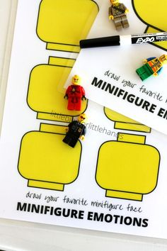 LEGO Minifigure Emotions Printable