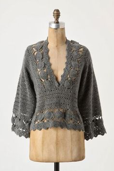 Pullover, free crochet pattern ceruleana