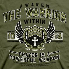 Awaken the Warrior Christian shirt - Here you will find WAR ROOM Movie t-shirts, caps, and gifts to inspire and equip you as you fight on your knees.