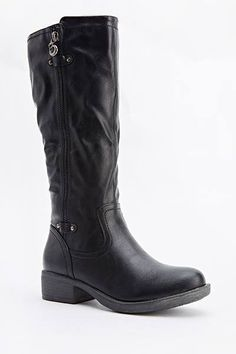 Womens Ladies Black Low Block Heel Zip Knee High Boots Size UK 5 EU 38 New  Click On Link To Visit My Ebay Shop http://stores.ebay.co.uk/all-about-feet  Useful Info:  - Standard Size - Standard Fit - By Mizia Paris - Black In Colour - Heel Height: 1.5 Inches - Inner Side Zip Fastening - Outer Side Zip Is Decorative Doesn't Go Up Or Down - Synthetic Leather Upper - Textile Lining  #boots #blackboots #kneehighboots #kneeboots #lowheel #black #fashion #footwear #forsale #womens #ladies #ebay