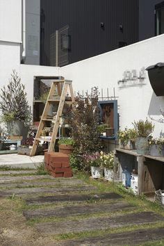 庭/エクステリア/植栽/枕木/ナチュラル/注文住宅/ジャストの家/house/home/exterior
