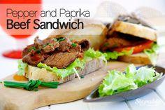 Pepper & Paprika Beef Sandwich