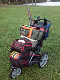disc golf caddy cart - Google Search