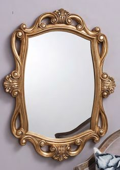 Holford Clay Gold mirror by Gallery Homewares