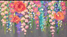 Learn to paint easy flowers using cotton swabs in this beginner acrylic painting tutorial by Angela Anderson - Angela Anderson - Google+