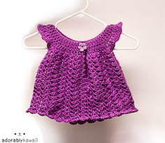 Angel Wings Baby Dress #crochet #free #pattern