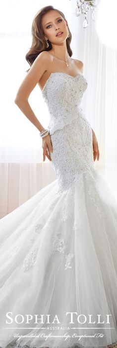 The Sophia Tolli Spring 2015 Wedding Dress Collection - Style No. Y11553 Adelie www.sophiatolli.com #weddingdresses