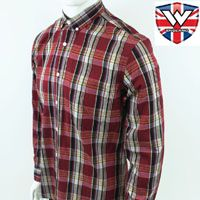 Vintage Long Sleeve Button Down Shirt by Warrior Clothing- HAWKING