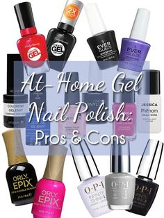 Compare at-home gel nail polish systems.