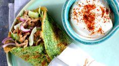 Ægge-wraps med spicy svinekød, opskrifter på aftensmad, nemlig.com