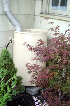 Making a rain barrel contributed by: teresasoule Outdoor Projects, Garden Projects, Garden Ideas, Diy Projects, Summer Garden, Lawn And Garden, Organic Gardening, Gardening Tips, Water Barrel