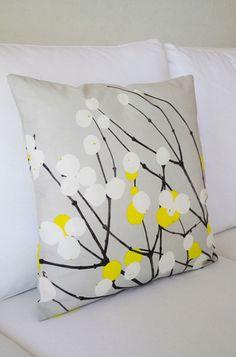 Marimekko's Lummimarja Cushion, fresh, crisp design of winter berries, bringing a simple, graphic piece of nature to your home.