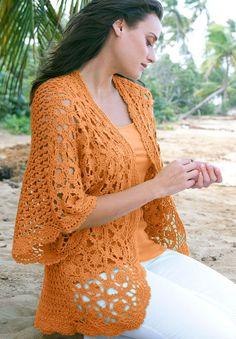 Plus Size Shrug Cardigan in Crochet   Jessica London