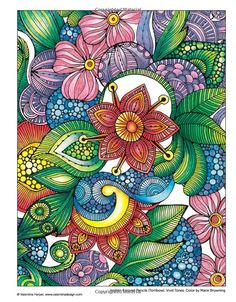Creative Coloring Flowers: Art Activity Pages to Relax and Enjoy!: Valentina Harper: 9781574219708: Amazon.com: Books