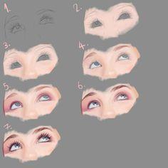 Eye tutorial part 1 by ~Elsy123 on deviantART via PinCG.com