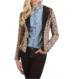 Leopard Casual Blazer - casual day