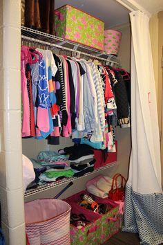 Furman university dorm closet