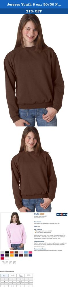 Jerzees Youth 8 oz.; 50/50 NuBlend� Fleece Crew - CHOCOLATE - M. Steady easy-care Jerzees NuBlend pill-resistant fleece is a team favorite year after year.