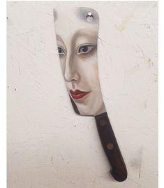 Художник- иллюстратор Александра Диллон и ее уникальные портреты на использованных предметах - Все интересное в искусстве и не только.