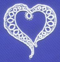 Modern Heart Tatting Pattern