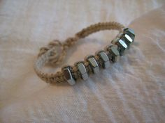 Hemp Cord & Bolts Bracelet