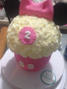 Gran Cupcake Minnie Mouse en rosa | Postrería