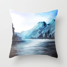 Black River Throw Pillow by Michael Hewitt - $20.00
