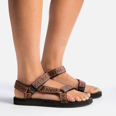 Very cute and sturdy sandals. They are supposed to be good for walking. I specifically like the color pictured