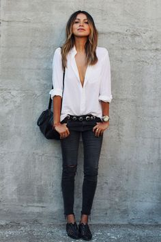15 Stylish and Easy Ways to Wear Your Skinny Jeans Right Now. (OK. Most of us should wear a bra.)